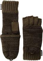 Muk Luks Men's 2 Color Marl Flip Mittens