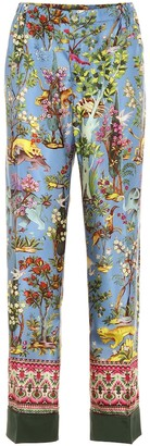F.R.S For Restless Sleepers Anaideia printed silk pants