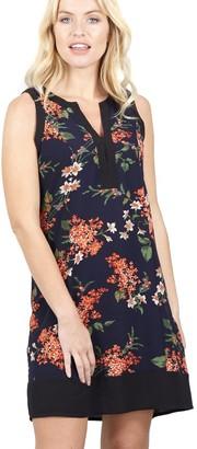 M&Co Izabel floral collarless shift dress