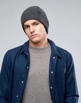 Jack Wills Lambswool Beanie In Gray