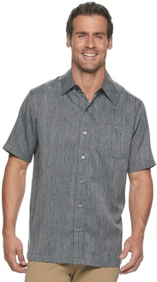 Haggar Men's Microfiber Button-Down Shirt