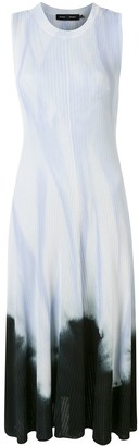 Proenza Schouler Dipped Tie Dye Sleeveless Knotted Back Dress