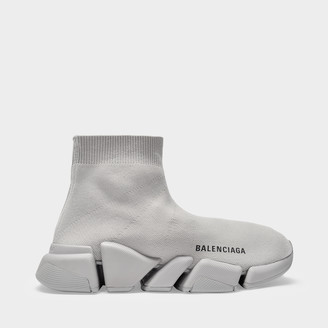 Balenciaga Speed.2 Lt Sneaker In Grey Knit