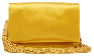 Galvan Tasselled Satin Shoulder Bag - Womens - Gold