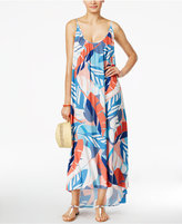 Vince Camuto Printed Racerback Maxi Cover-Up