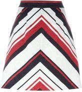 Dolce & Gabbana striped A-line skirt
