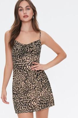 Forever 21 Cheetah Print Cowl Dress