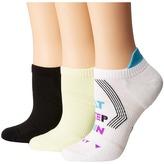 Hue Air Sleek Tab Back Liner with Cushion 3-Pack Women's Crew Cut Socks Shoes