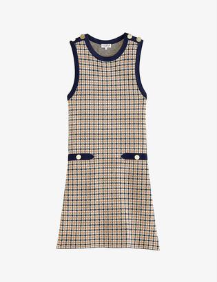 Claudie Pierlot Reflex houndstooth stretch-jersey dress