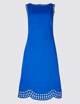 M&S Collection Cutwork Skater Midi Dress