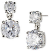 Marchesa Round Cubic Zirconia Double-Drop Earrings