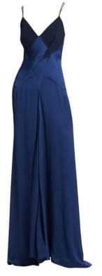Roland Mouret Women's Revere A-Line Silk Blend Gown - Navy - Size UK 12 (8)