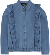 Little Remix Jean shirt with flounces
