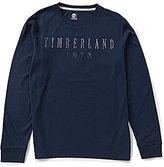 Timberland Long-Sleeve Kennebec Linear Logo Tee