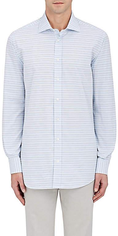 Luciano Barbera MEN'S STRIPED COTTON DRESS SHIRT