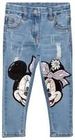 MonnaLisa Blue Minnie Sequin Patch Jeans