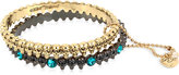 Betsey Johnson Two-Tone Skull 2-Pc. Set Bangle Bracelets