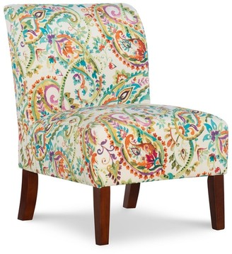 Linon Jules Curved Back Paisley Slipper Chair