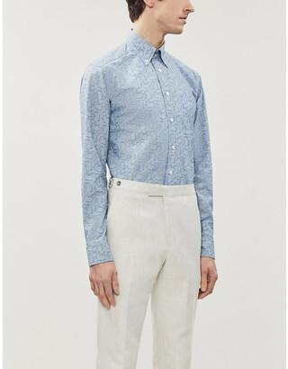 Eton Paisley-print slim-fit cotton shirt