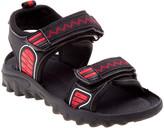 Rugged Bear Boys' Sandals BLACK - Black & Red Zigzag Sandal - Boys