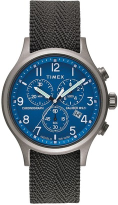 Timex Men's Archive Allied Chronograph Reflective & Reversible Fabric Strap Watch, 42mm