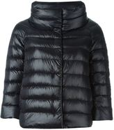 Herno cropped sleeve padded jacket - women - Cotton/Feather Down/Polyamide/Acetate - 42