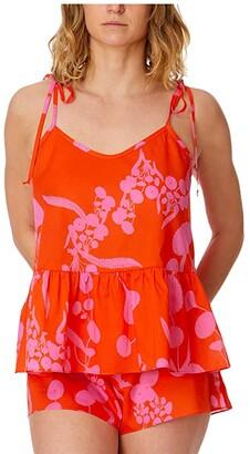 Hanky Panky Orange Crush Sleep Set (Red/Pink) Women's Pajama Sets