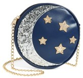 Capelli of New York Girl's Sequin Stars & Moon Bag - Blue