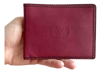 Valentino Burgundy Leather Small bags, wallets & cases