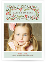 Minted Blushing Christmas Petite Holiday Cards