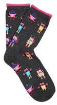 F&F Neon Robot Socks, Women's