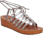 Lucky Brand Hulumi Wedge Lace-Up Gladiator Sandals