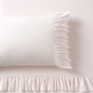 Pottery Barn Teen Washed Cotton Ruffle Organic Sheet Set
