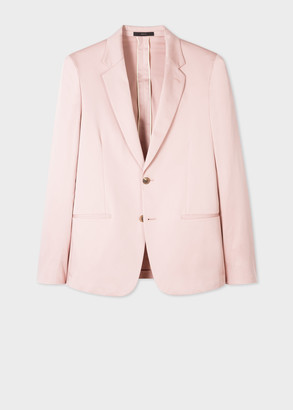 Paul Smith The Soho - Men's Tailored-Fit Pink Cotton-Stretch Blazer