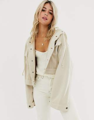 Free People Dreamers hooded jacket-Grey