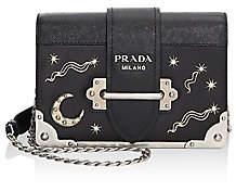 Prada Women's Cahier Studded Leather Crossbody Bag