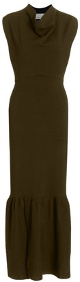 3.1 Phillip Lim Military Cowl-Neck Ribbed Dress