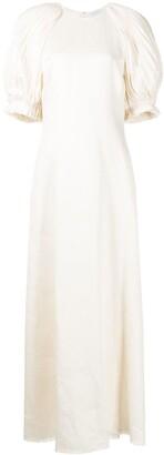 Gabriela Hearst Puga puff-sleeve dress