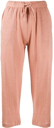 Majestic Filatures Drawstring-Waist Cropped Trousers