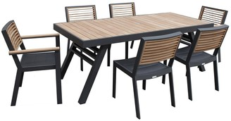 Indo Soul Bocage 7 Piece Dining Setting Charcoal