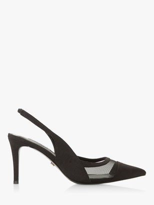 Dune Carin Slingback Mid Heel Court Shoes