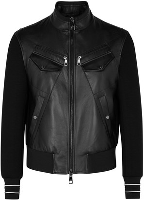 Neil Barrett Black Neoprene And Leather Jacket