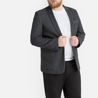 Castaluna Men'S Big & Tall Straight Cut Blazer with Single-Breasted Buttons