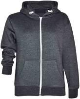 Gracious Girl GG Boys Girls Kids Plain Fleece Zip Long Sleeved Hoodie Sweatshirt Jacket