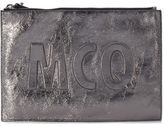 McQ by Alexander McQueen Steel Laminated Leather Pochette