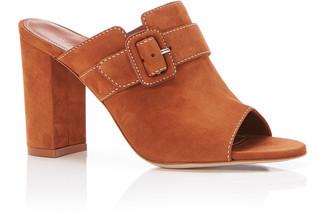 Marion Parke Lidia Suede Buckle Mule Sandals