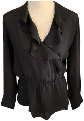 A.P.C. Black Silk Top for Women