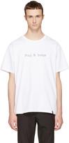 Rag & Bone White Glitch Logo T-shirt