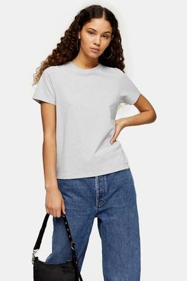 Topshop Womens Considered Grey Marl Recycled T-Shirt - Grey Marl