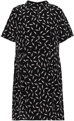 Markus Lupfer Lizzie Printed Silk Crepe De Chine Mini Dress